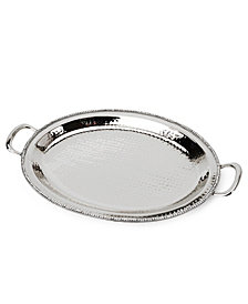 "Classic Touch 21"" Prism Serving Tray with Diamonds, Candle Tray"