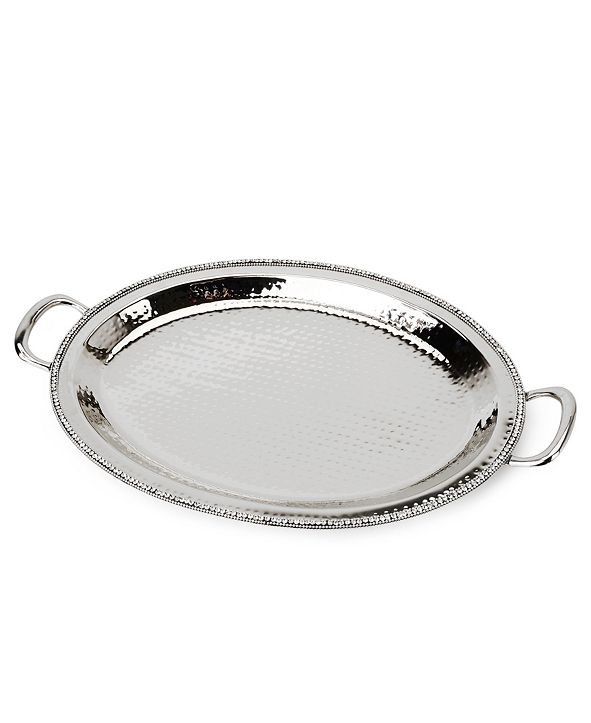 """Classic Touch 21"""" Prism Serving Tray with Diamonds, Candle Tray"""