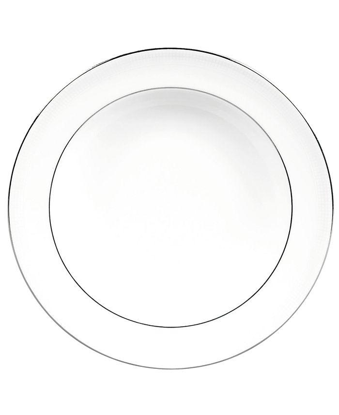 "Vera Wang Wedgwood - Vera Wang ""Blanc sur Blanc"" Rim Soup Plate"