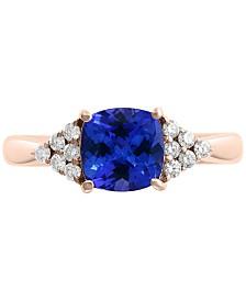 EFFY® Tanzanite (1-3/8 ct. t.w.) & Diamond (1/5 ct. t.w.) Ring in 14k Rose Gold
