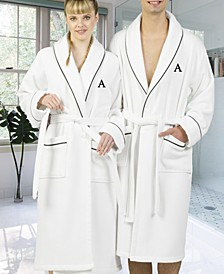 Personalized Turkish Cotton Waffle Terry Bath Robe Collection