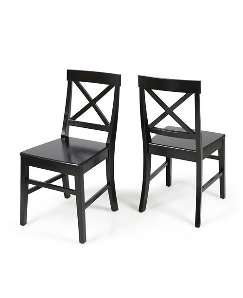Terrific Noble House Roshan Dining Chairs Set Of 2 Quick Ship Gmtry Best Dining Table And Chair Ideas Images Gmtryco