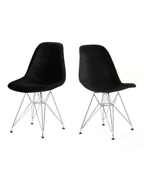 Noble House Wilmette Eiffel Dining Chairs (Set Of 2)