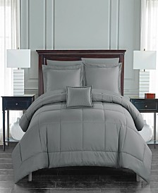 Chic Home Jordyn 8 Piece King Bed In a Bag Comforter Set