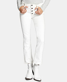 Sanctuary Connector Exposed-Fly Cropped Jeans