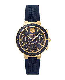 Versus Women's Harbour Heights Blue Leather Strap Watch 38mm