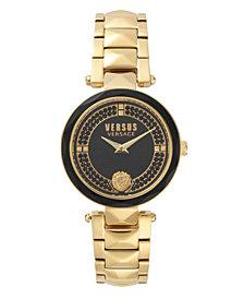 Versus Women's Convent Garden Crystal Yellow Gold-Tone Stainless Steel Bracelet Watch 36mm
