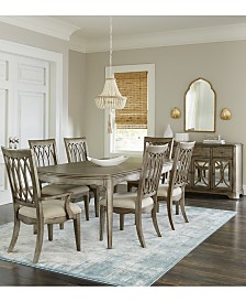 Kelly Ripa Home Hayley 7-Pc. Dining Set (Dining Table, 4 Side Chairs & 2 Arm Chairs)