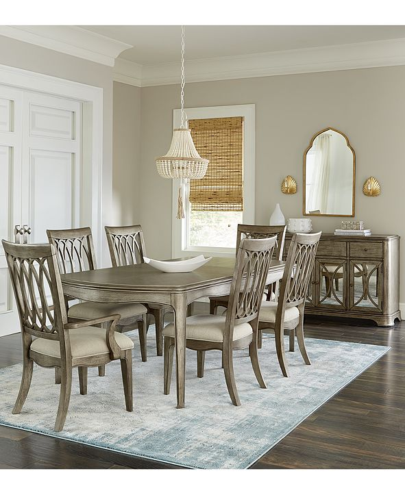 Furniture Kelly Ripa Home Hayley 7-Pc. Dining Set (Dining Table, 4 Side Chairs & 2 Arm Chairs)