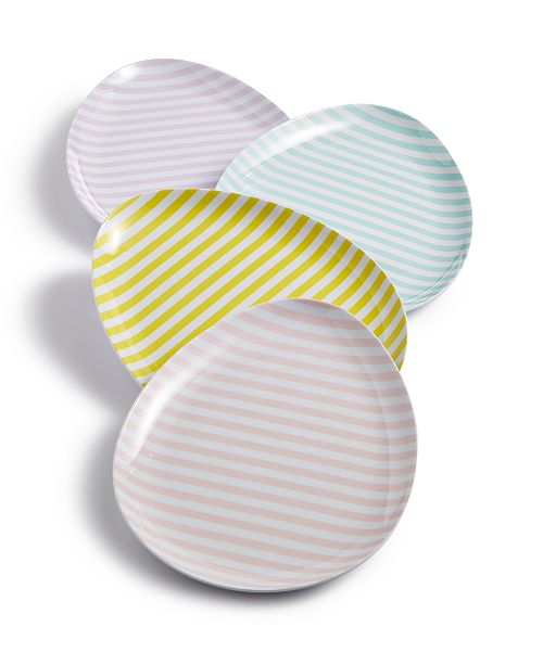 Martha Stewart Collection Egg Appetizer Plates, Service for 4, Created for Macy's