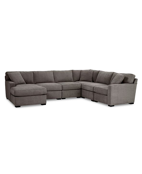Furniture Radley Fabric 6-Pc. Chaise Sectional Sofa with Corner Piece, Created for Macy's