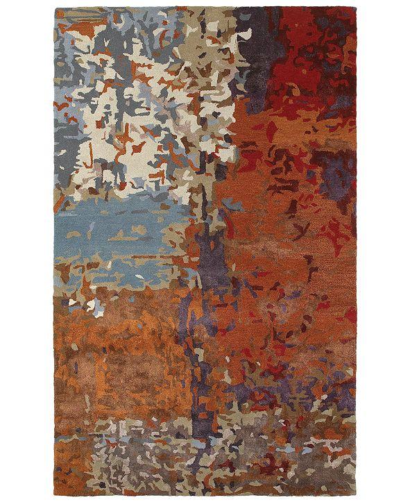 Oriental Weavers Galaxy 21904 Multi/Orange 8' x 10' Area Rug