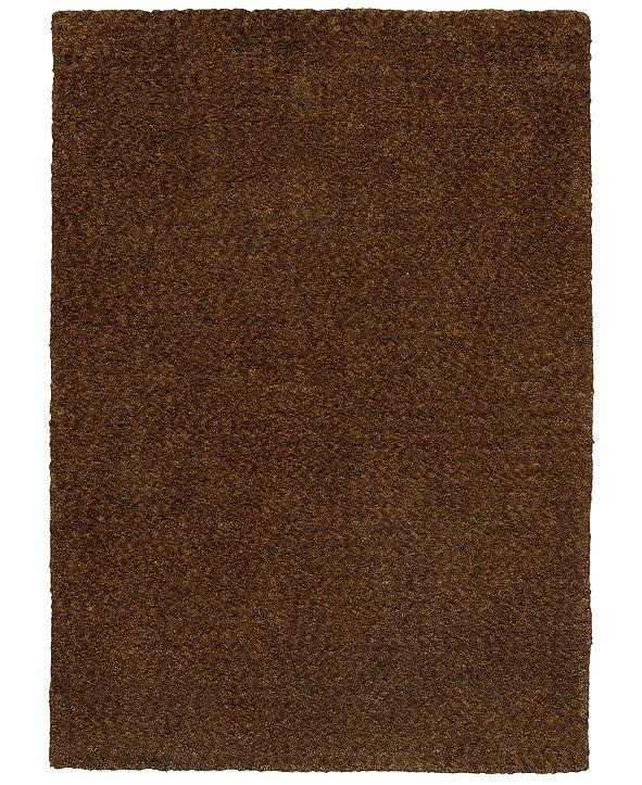 """Oriental Weavers Heavenly Shag 73404 Brown/Brown 6'6"""" x 9'6"""" Area Rug"""
