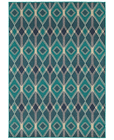 "Oriental Weavers Highlands 6627B Blue/Teal 7'10"" x 10'10"" Area Rug"