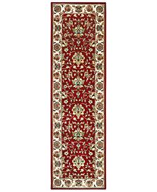 """Oriental Weavers Kashan 4929R Red/Ivory 2'3"""" x 7'6"""" Runner Area Rug"""
