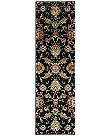 """Oriental Weavers Kashan 9946K Black/Multi 2'3"""" x 7'6"""" Runner Area Rug"""