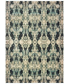 "Raleigh 5507B Gray/Blue 3'10"" x 5'5"" Area Rug"