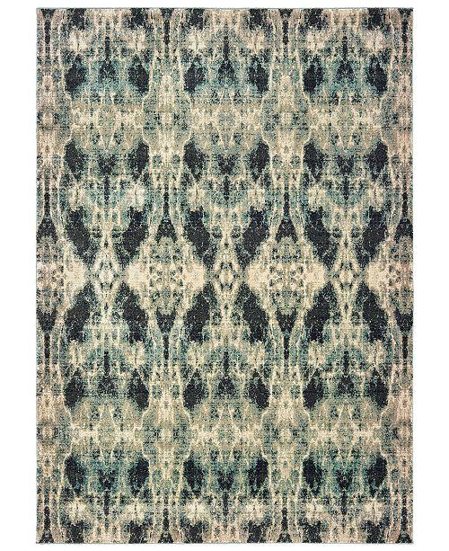 "Oriental Weavers Raleigh 5507B Gray/Blue 1'10"" x 3' Area Rug"