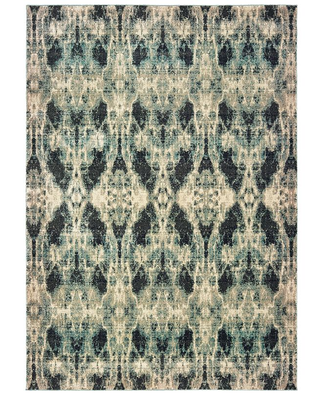 "Oriental Weavers Raleigh 5507B Gray/Blue 6'7"" x 9'6"" Area Rug"