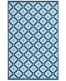 "Liora Manne' Riviera 7635 Modern Tile 7'10"" Indoor/Outdoor Square Area Rug"