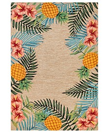 "Liora Manne' Ravella 2280 Tropical Neutral 3'6"" x 5'6"" Indoor/Outdoor Area Rug"