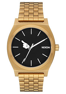 Nixon Men's Time Teller Mickey Gold-Tone Stainless Steel Bracelet Watch 37mm