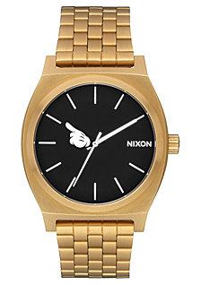 Nixon Men's Time Teller Mickey Gold-Tone Stainless Steel Bracelet Watch 37mm