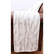 "Taiga Marble Loft Fleece Decorative Throw, 50"" x 60"""