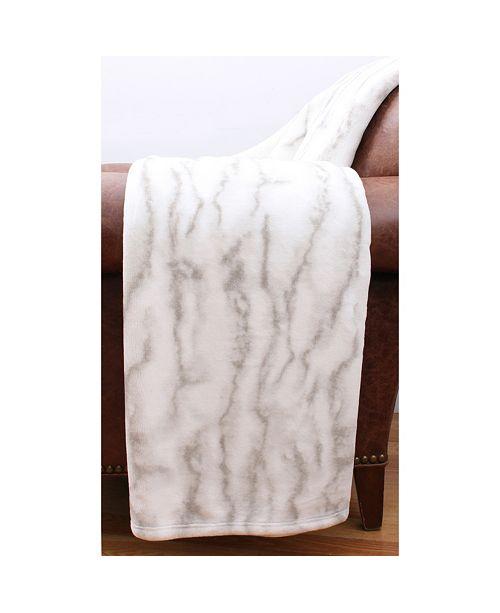 "THRO Taiga Marble Loft Fleece Decorative 50"" x 60"""