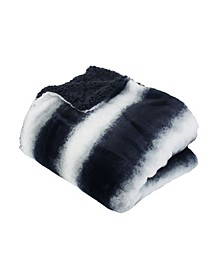 "Beckie Stripe Faux Fur Decorative 50"" x 60"""