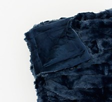 "Josephine Basketweave Faux Fur Decorative Throw, 50"" x 60"""