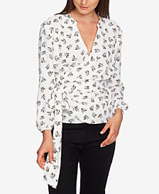 1.STATE Wrap-Front Daisy Blouse