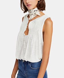 Free People New To Town Smocked Top