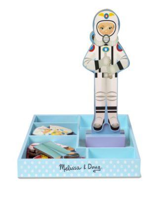 25+ pcs Melissa /& Doug Julia Magnetic Dress-Up Wooden Doll Pretend Play Set
