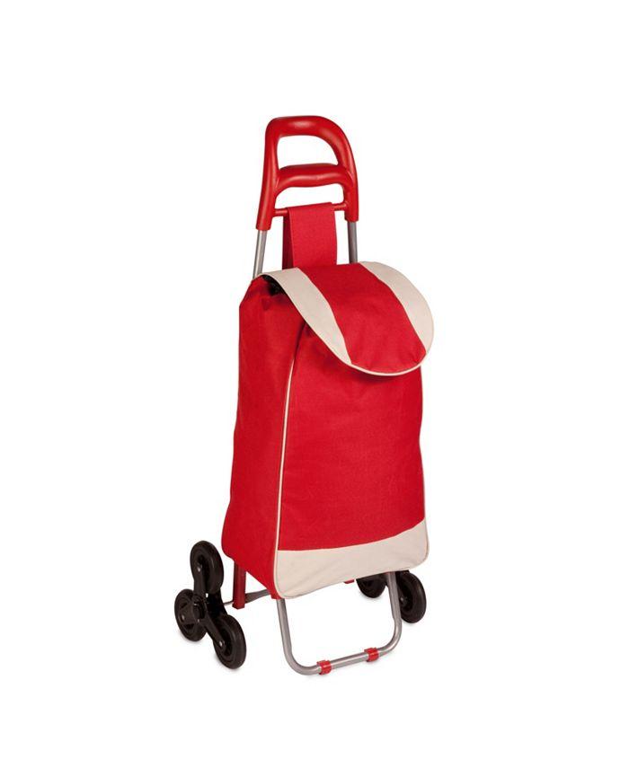Honey Can Do - Large Rolling Knapsack Bag Cart, Red