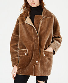 Free People Lindsay Fleece Coat