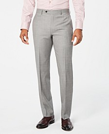 Men's Classic-Fit UltraFlex Stretch Light Gray Stepweave Suit Pants