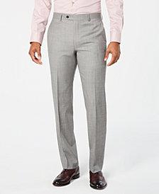 Lauren Ralph Lauren Men's Classic-Fit UltraFlex Stretch Light Gray Stepweave Suit Pants