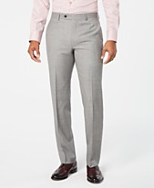f87a1358af7a0f Lauren Ralph Lauren Men's Classic-Fit UltraFlex Stretch Light Gray  Stepweave Suit Pants