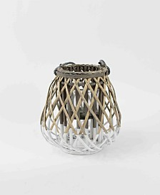 Kalalou Small Willow Lantern w/Glass