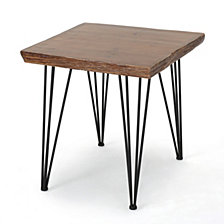 Chana Faux Live Edge Square Dining Table, Quick Ship