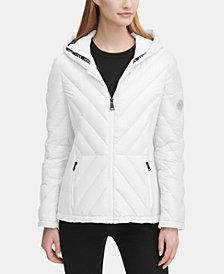 DKNY Hooded Puffer Coat, Created for Macy's