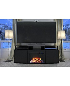 Delmar Electric Fireplace Tv Console For Tvs Up To 70 Inches