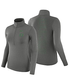 Nike Women's Oregon Ducks Hyperwarm Quarter-Zip Pullover