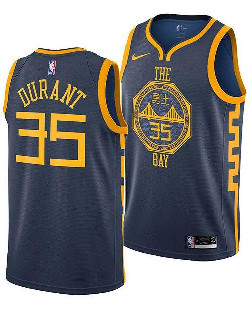 86882878a95 Nike Men's Kevin Durant Golden State Warriors City Swingman Jersey 2018