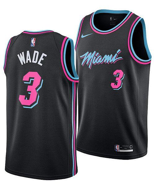 c9d37091b Nike Men s Dwyane Wade Miami Heat City Swingman Jersey 2018 ...