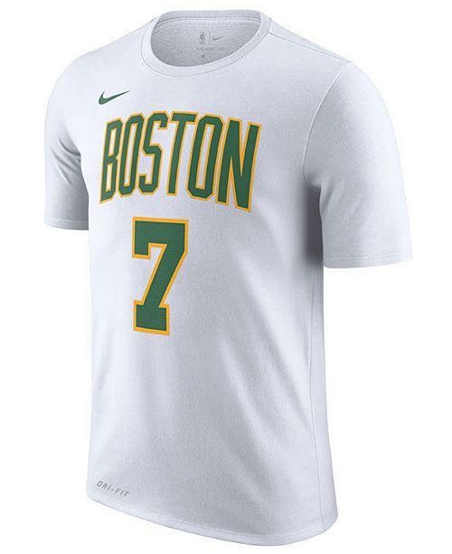 2bcea44c9 Nike Men s Jaylen Brown Boston Celtics City Player T-Shirt 2018 ...