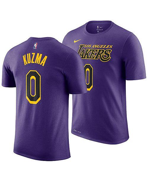 8de319bc1 Nike Men s Kyle Kuzma Los Angeles Lakers City Player T-Shirt 2018 ...