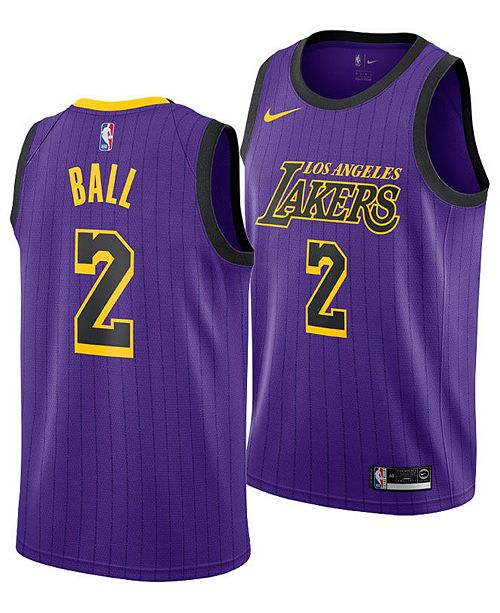 Nike Lonzo Ball Los Angeles Lakers City Edition Swingman Jersey 2018 ... 25d700f1b