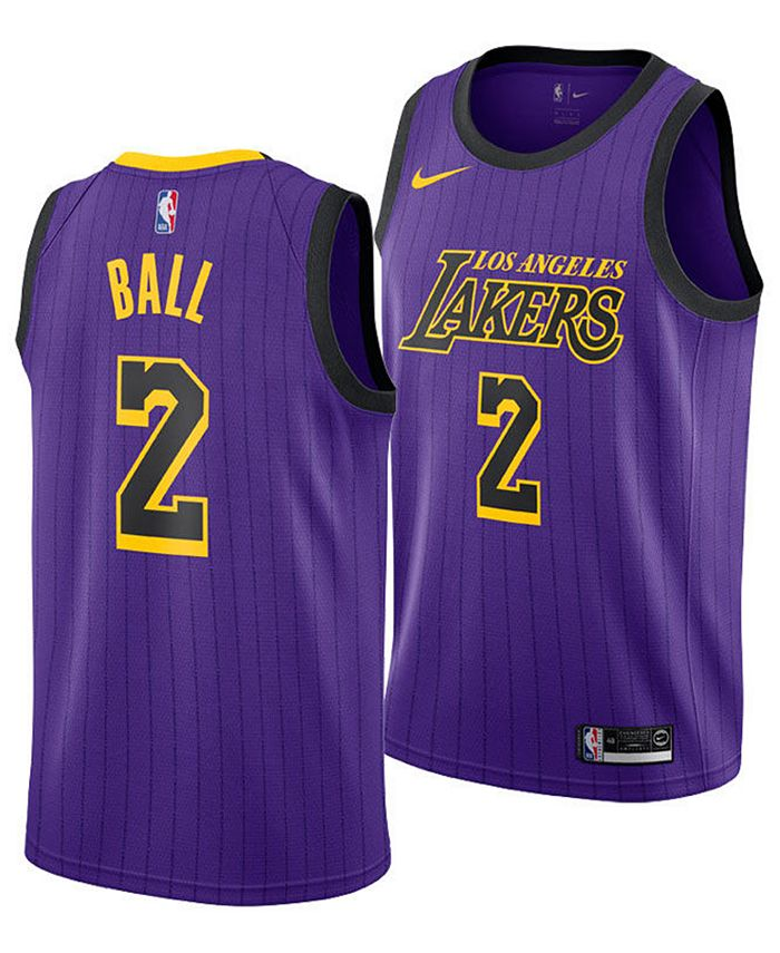 Nike Lonzo Ball Los Angeles Lakers City Edition Swingman Jersey ...
